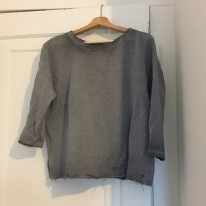 Gray faded American eagle sweater